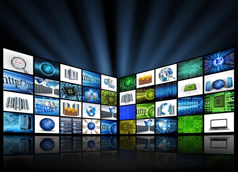 Tecnologia della TV illustrazione vettoriale