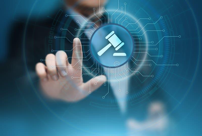Tecnologia di Internet dell'asta di Business Legal Lawyer di avvocato fotografia stock libera da diritti