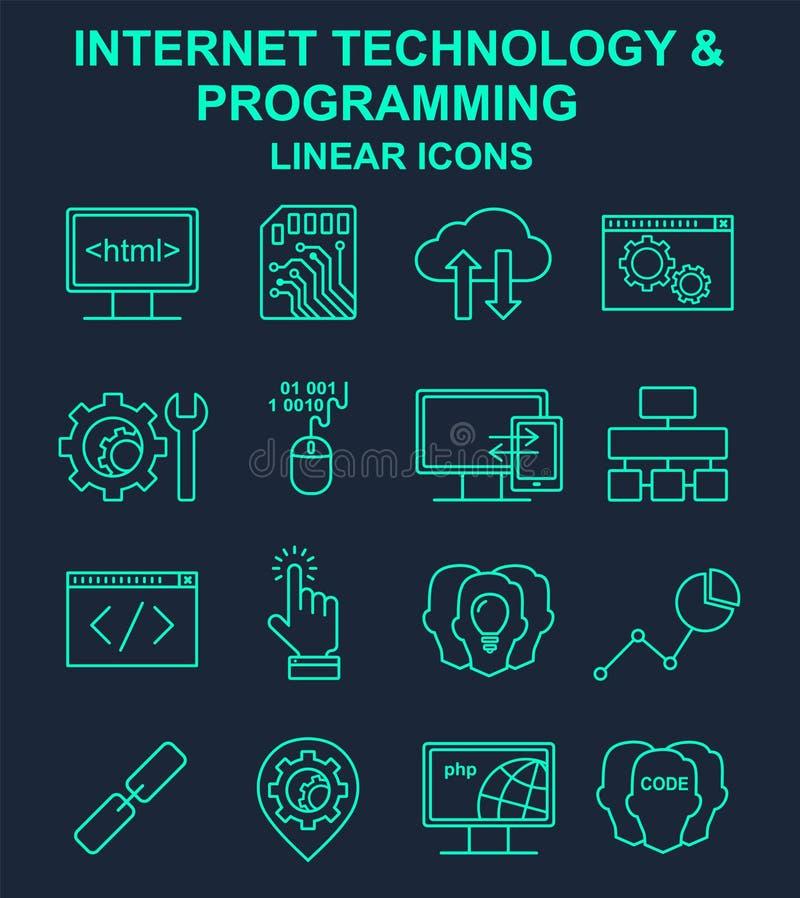 Tecnologia di Internet e linea di programmazione insieme illustrazione di stock