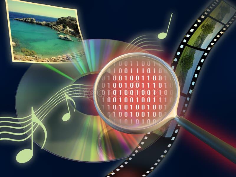 Tecnologia di mezzi d'informazione royalty illustrazione gratis