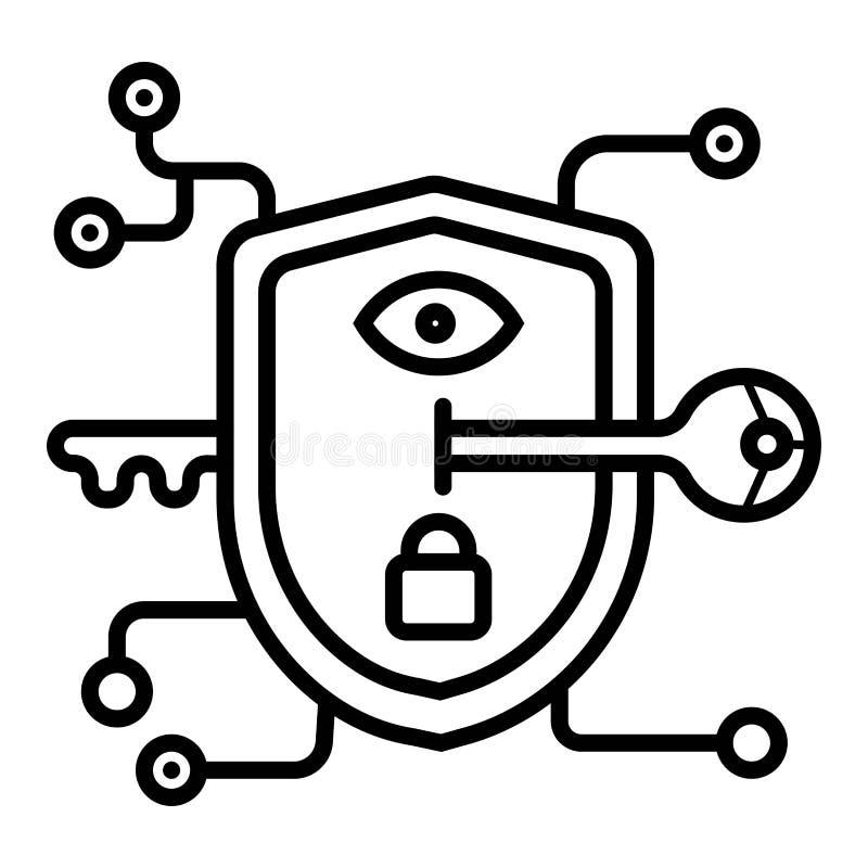 Tecnologia di protezione della serratura a chiave royalty illustrazione gratis