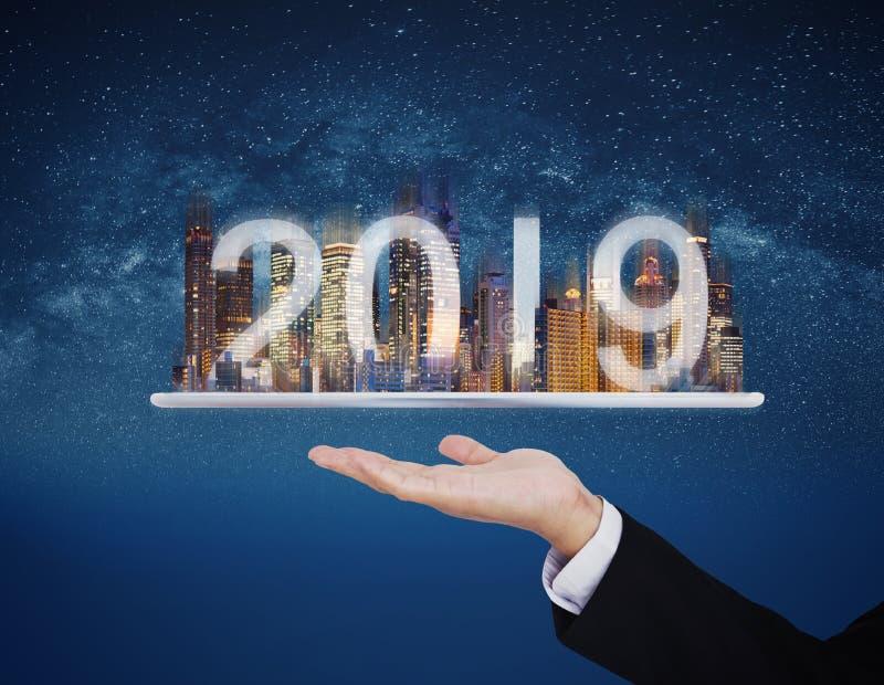 tecnologia di realtà aumentata 2019, nuova tecnologia e nuovo concetto di investimento aziendale di tendenza fotografia stock