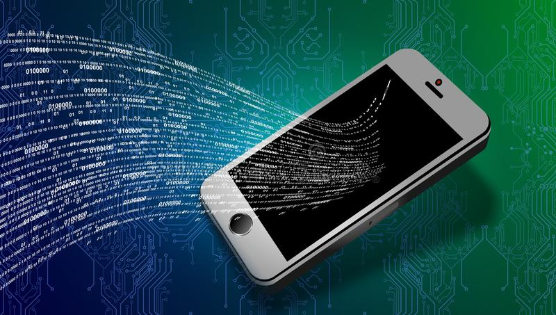Tecnologia di rete del mondo comunicazione mobile di tecnologia royalty illustrazione gratis