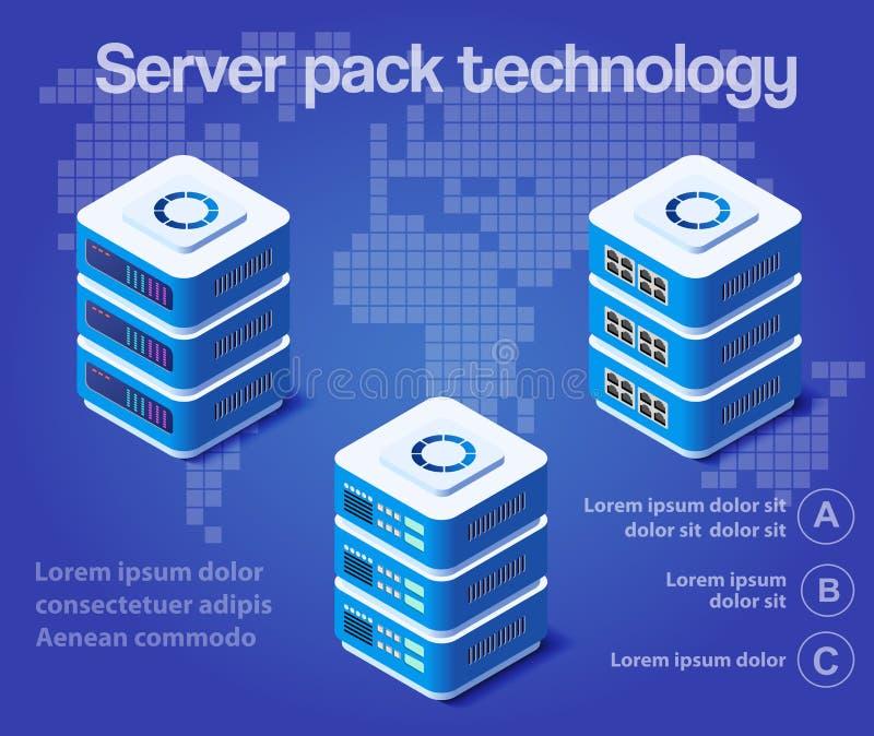 Tecnologia di rete del server royalty illustrazione gratis
