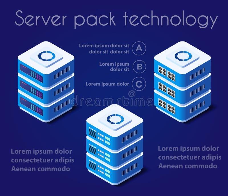 Tecnologia di rete del server illustrazione vettoriale