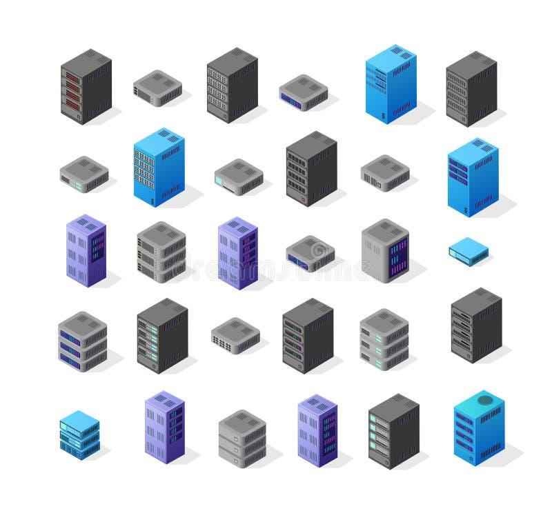 Tecnologia di rete del server illustrazione di stock