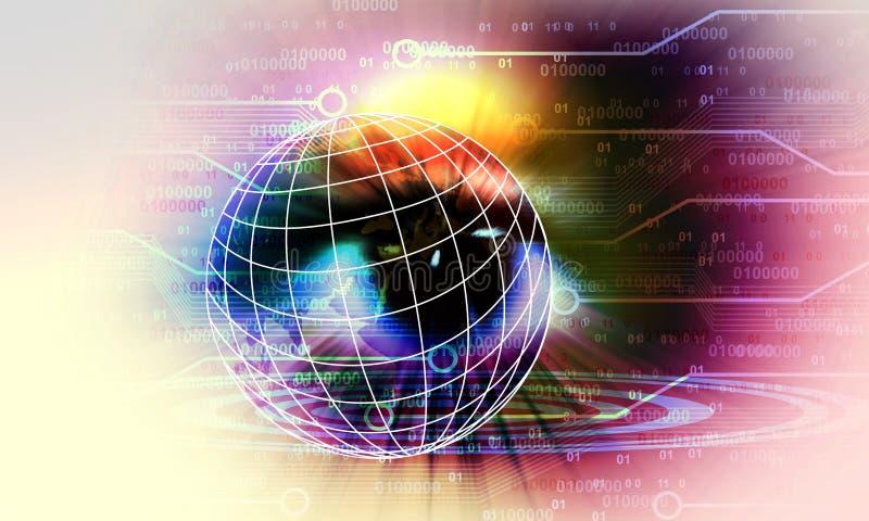 Tecnologia di rete di visione dell'occhio del mondo Comunicazione di tecnologia royalty illustrazione gratis