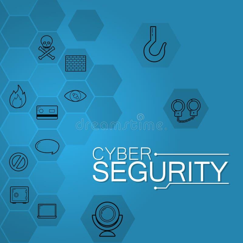 Tecnologia di sicurezza cyber royalty illustrazione gratis