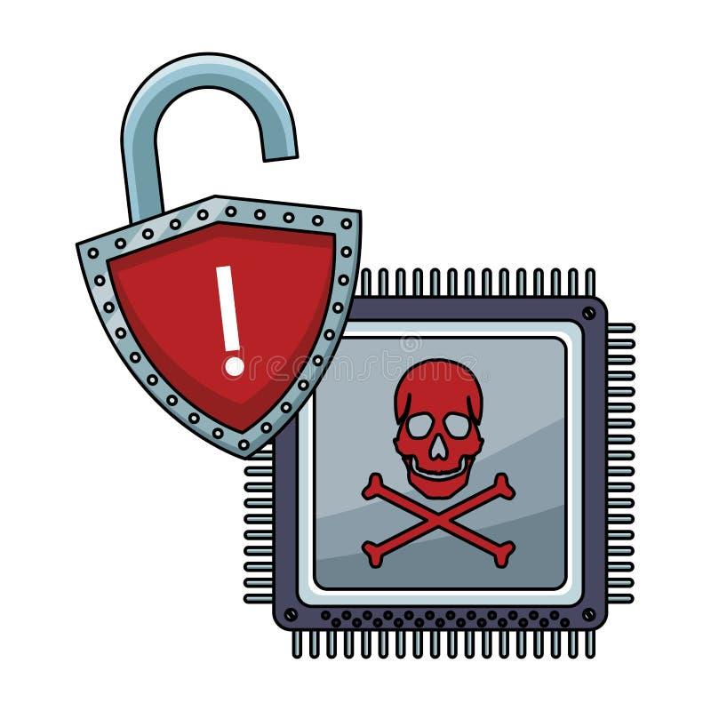Progettazione Di Sistema Di Sicurezza Icona Di Protezione ...