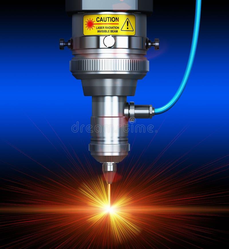 Tecnologia di taglio del laser illustrazione vettoriale