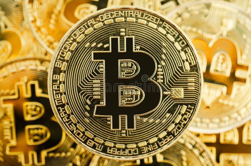 Tecnologia di valuta della moneta BTC del pezzo di Bitcoin Cryptocurrency Digital fotografia stock