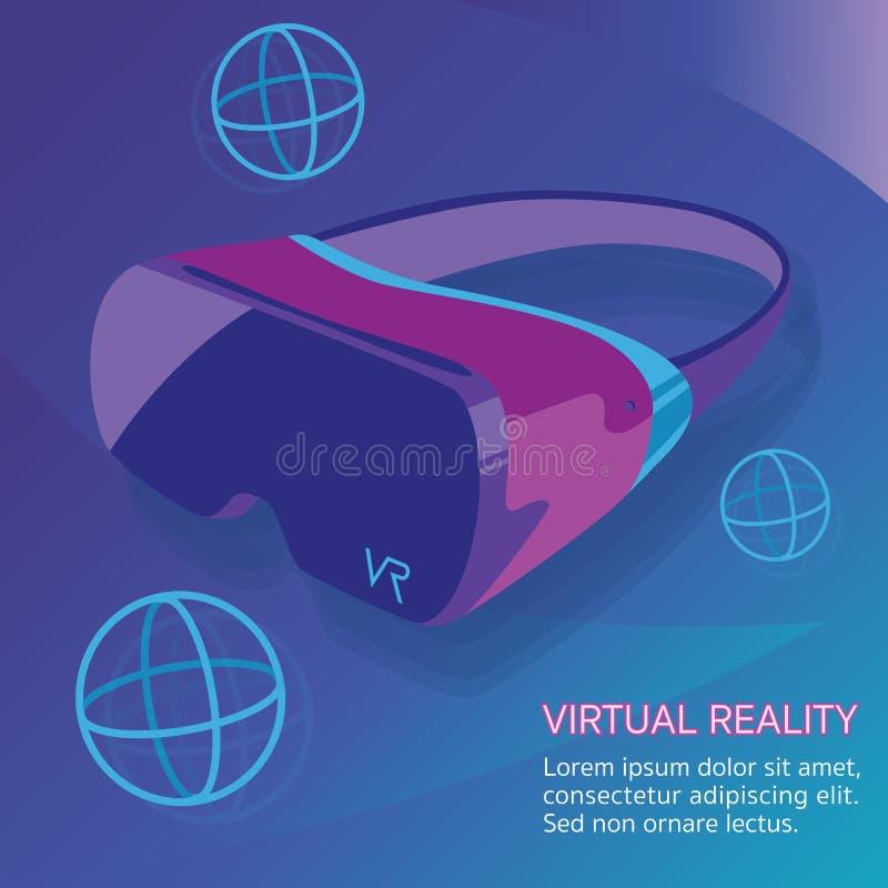 Tecnologia di vetro di realtà virtuale di VR immagine stock libera da diritti