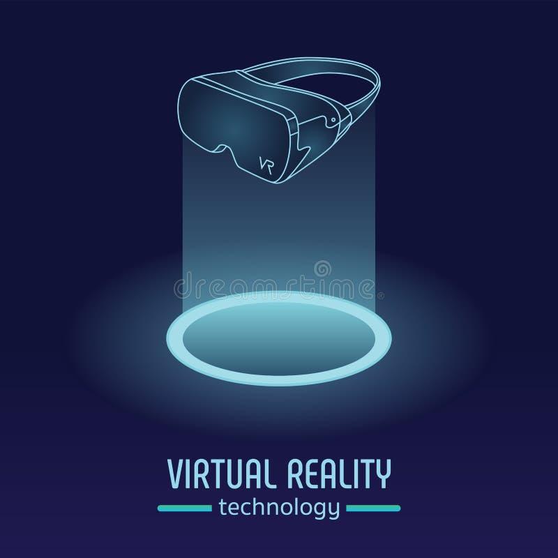 Tecnologia di vetro di realtà virtuale di VR immagini stock libere da diritti