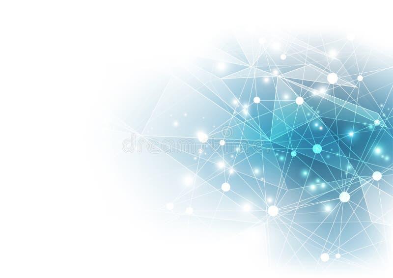 Tecnologia digital abstrata Fundo do vetor ilustração royalty free