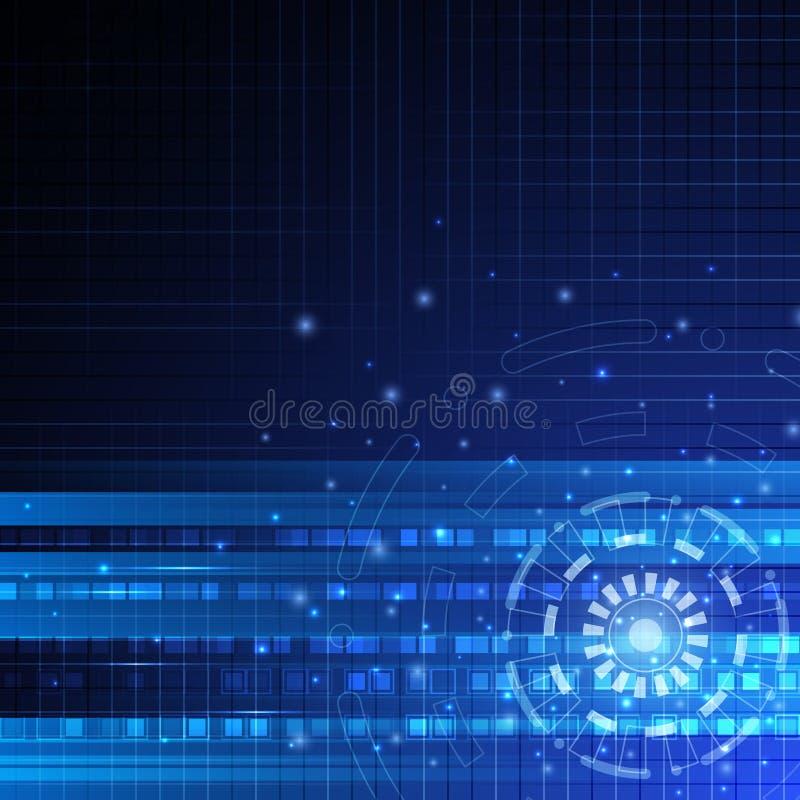 Tecnologia digital da velocidade do vetor, fundo abstrato ilustração do vetor