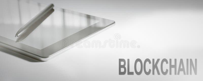 Tecnologia digitale di concetto di affari di BLOCKCHAIN fotografia stock libera da diritti