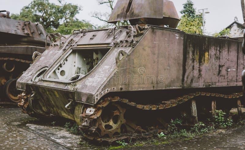 Tecnologia distrutta americano di NTrophy dopo la guerra del vietnam Musei militari nazionali della guerra del vietnam fotografie stock libere da diritti