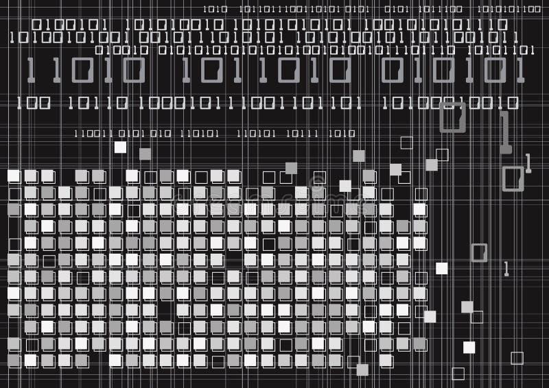 Tecnologia do código binário de Digitas ilustração royalty free