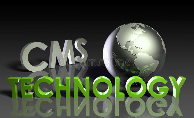 Tecnologia do CMS ilustração do vetor