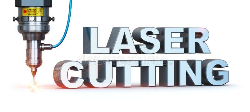 Tecnologia do corte do laser ilustração do vetor
