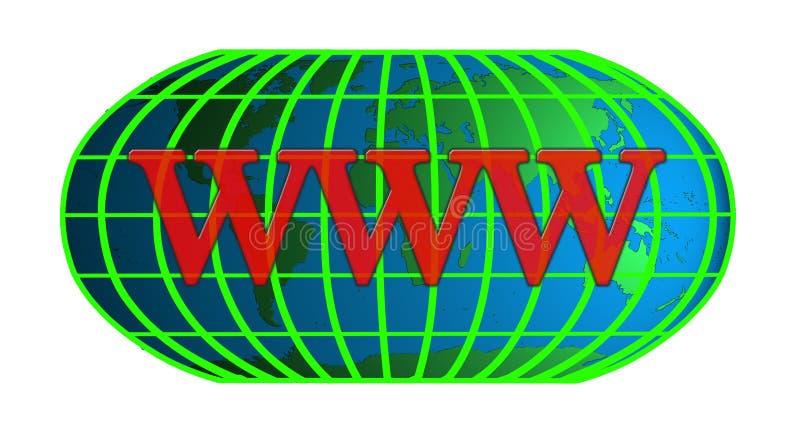 Tecnologia do Internet do mundo ilustração do vetor