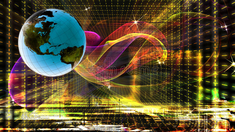 Tecnologia do Internet globalization ilustração do vetor