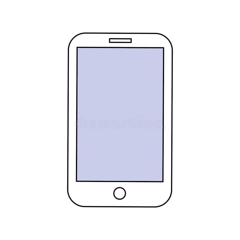 Tecnologia do móbil de Smartphone ilustração do vetor