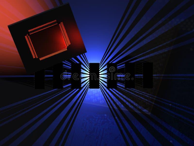 Tecnologia do microchip fotografia de stock
