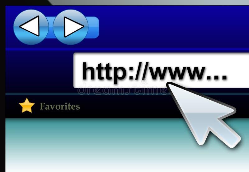 Tecnologia do navegador de Internet ilustração do vetor