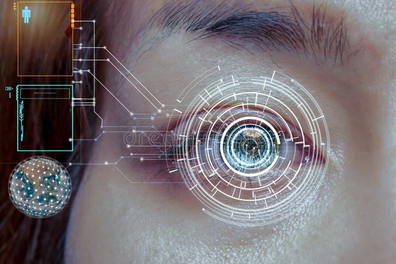 Tecnologia do olho para para melhorar a boa visão fotografia de stock