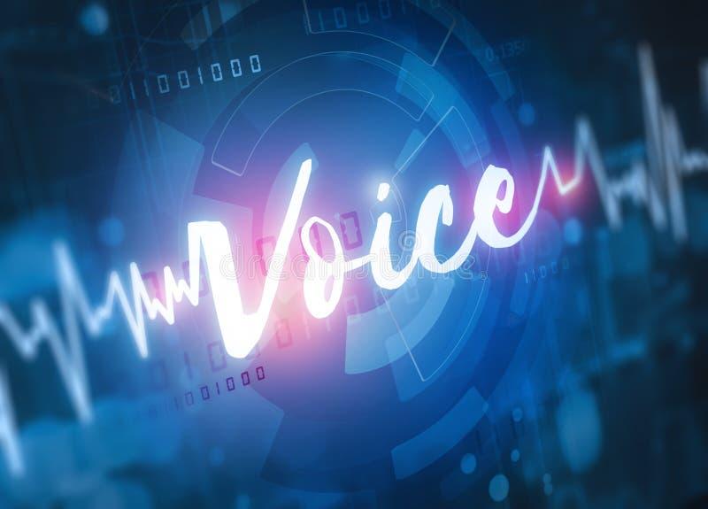 Tecnologia do reconhecimento de voz fotografia de stock