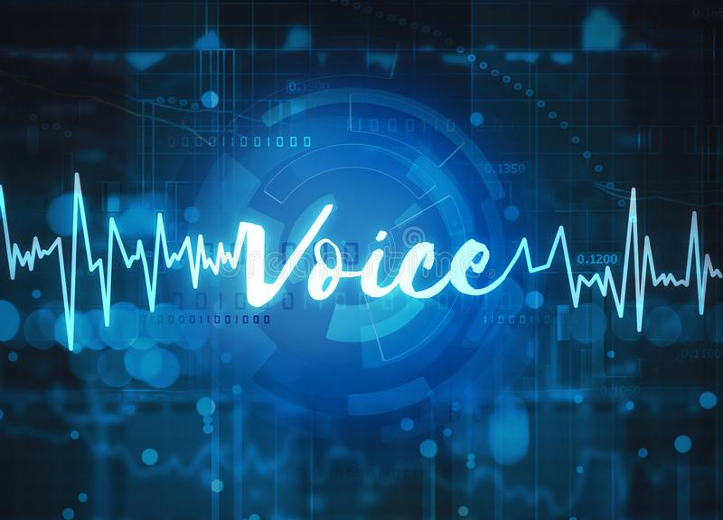 Tecnologia do reconhecimento de voz ilustração do vetor