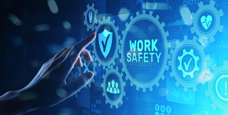 Tecnologia do seguro da lei dos padr?es da instru??o de seguran?a do trabalho e conceito industriais do regulamento imagem de stock