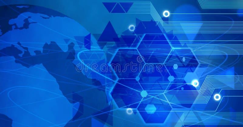 Tecnologia dos dados do computador da inovação, treinamento, conection do fundo do ideea do conceito do negócio ilustração royalty free