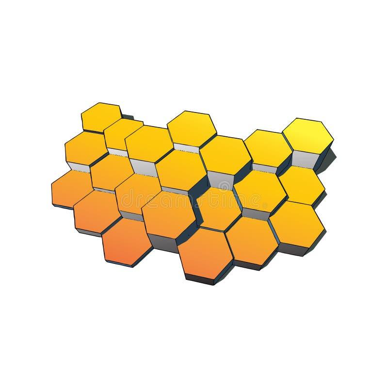 Tecnologia dos hexágonos e fundo de uma comunicação Ilustração EPS10 do vetor ilustração do vetor