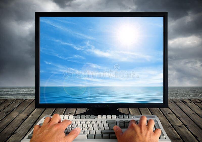 Tecnologia e natureza imagens de stock