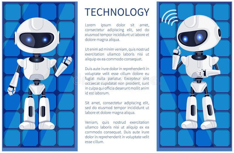 Tecnologia ed illustrazione di vettore del manifesto del robot royalty illustrazione gratis