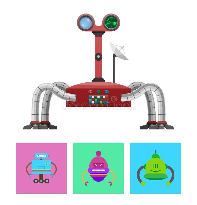 Tecnologia ed illustrazione di vettore messa creature royalty illustrazione gratis