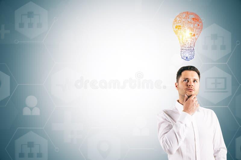 Tecnologia ed ispirare concetto immagine stock