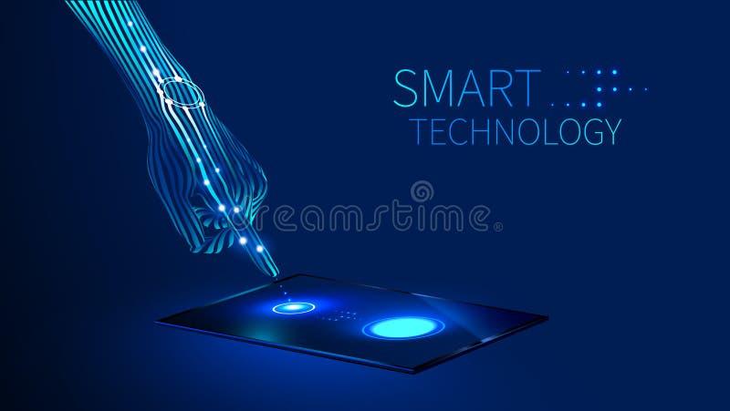 Tecnologia esperta da mão ilustração royalty free