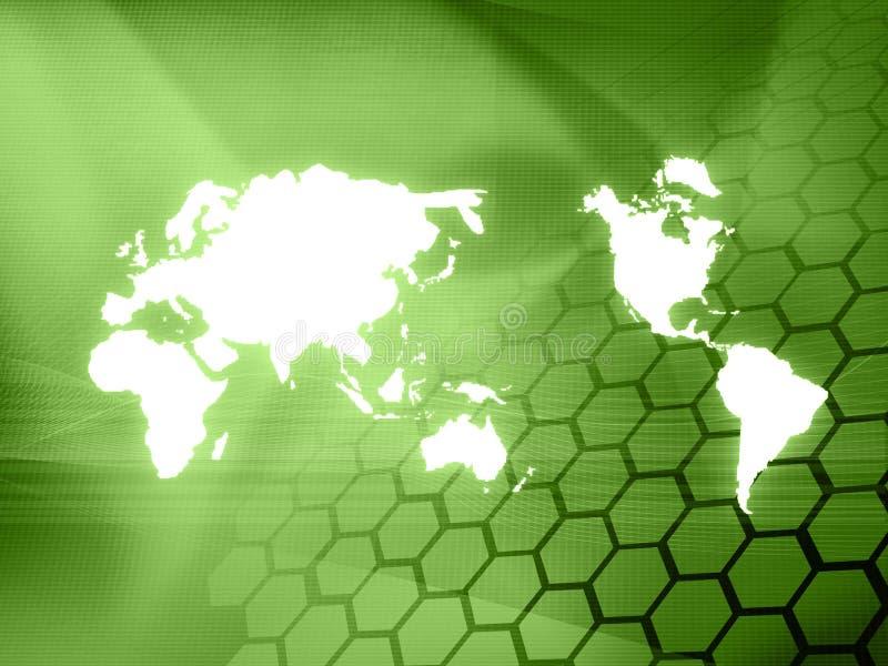 Tecnologia-estilo do mapa de mundo imagens de stock