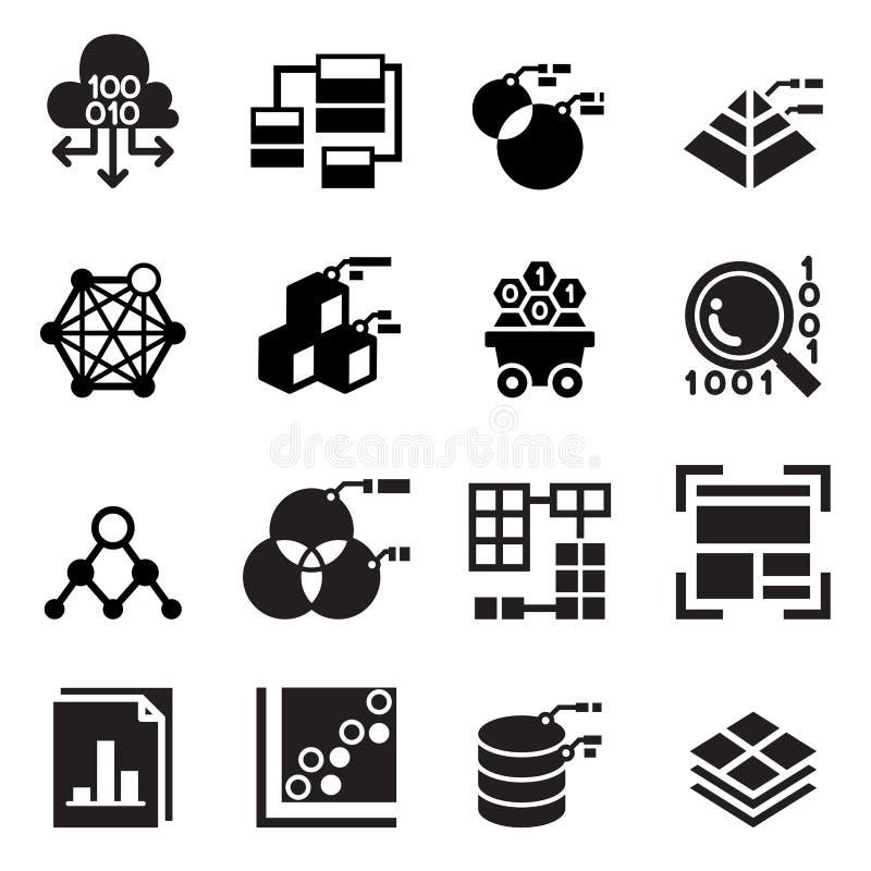 Tecnologia estrattiva di data mining, trasferimento di dati, analisi del data warehouse illustrazione vettoriale
