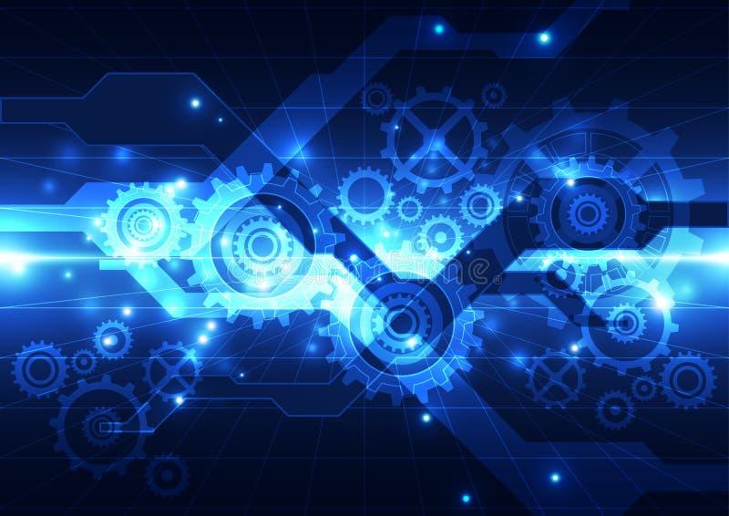Tecnologia futura da engenharia abstrata do vetor, fundo ilustração do vetor