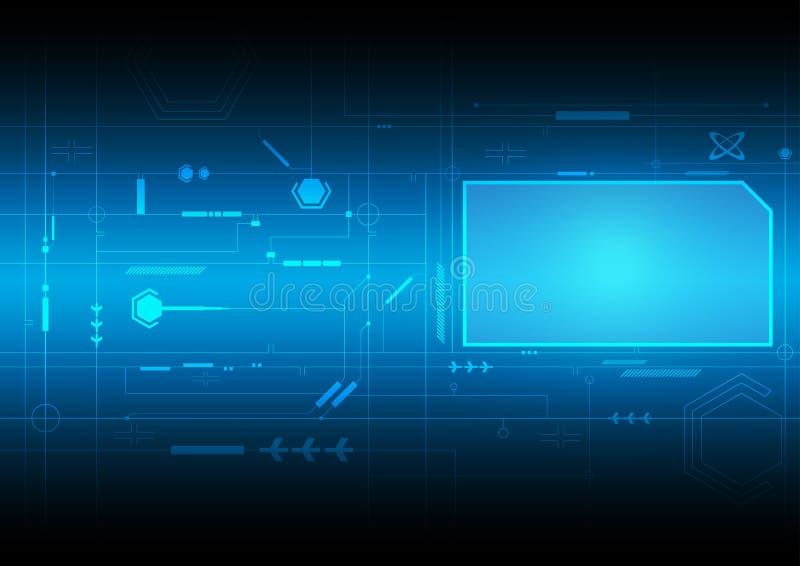 Tecnologia futura da relação ilustração stock