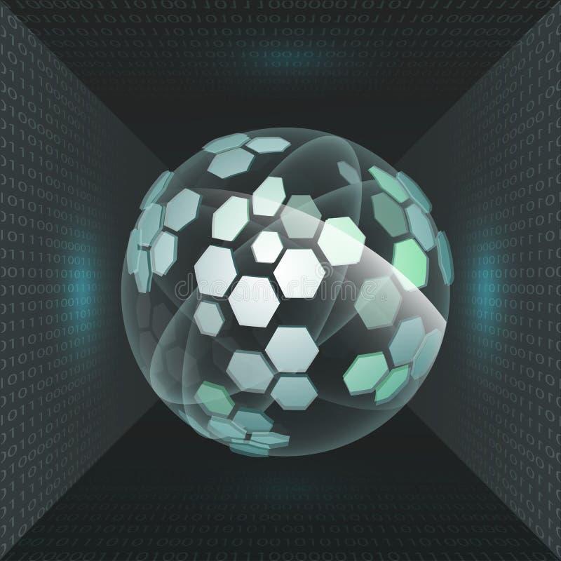 Tecnologia futura dell'interfaccia illustrazione vettoriale
