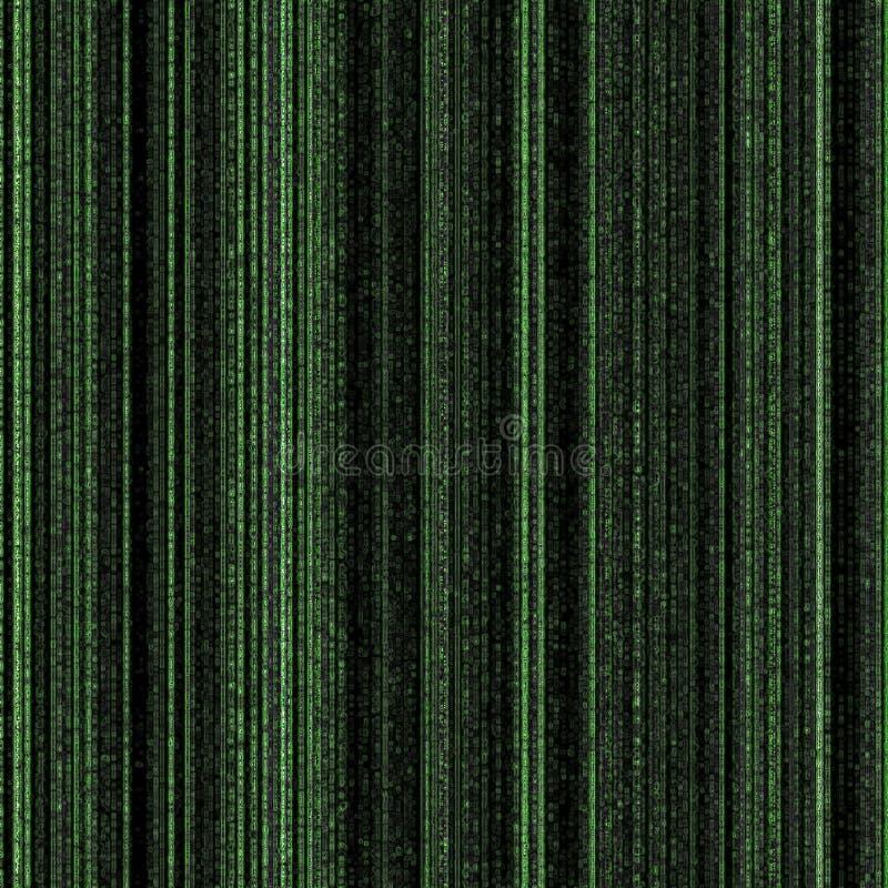 Tecnologia futura della tabella - priorità bassa di codice binario illustrazione di stock
