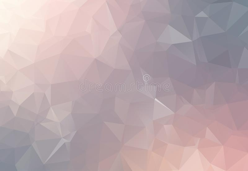 Tecnologia futura futuristica digitale geometrica grigia di concetto poligonale di tecnologia dell'estratto con il fondo di tecno illustrazione di stock