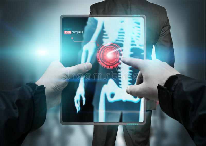 Tecnologia futura - varredor do corpo imagem de stock royalty free