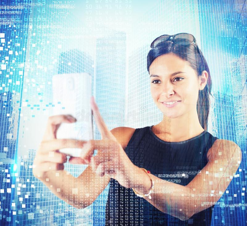 Tecnologia futurista fotos de stock royalty free
