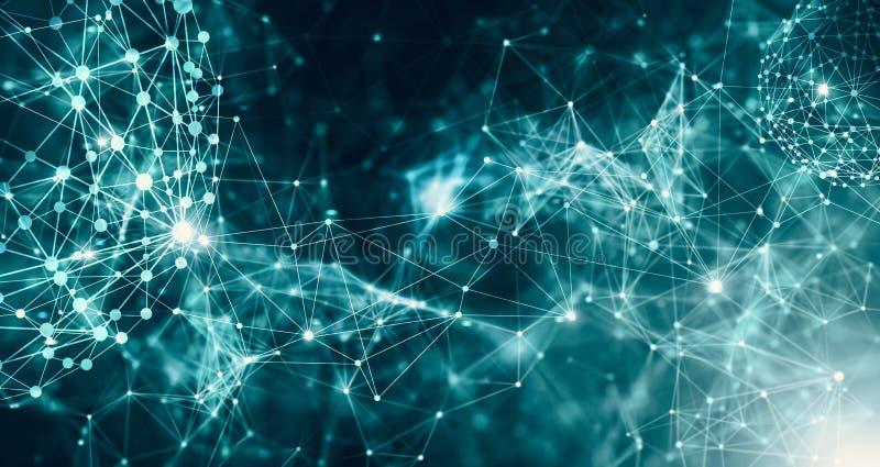 Tecnologia futuristica astratta con le forme poligonali royalty illustrazione gratis